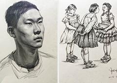 闫晗画室培训后作品